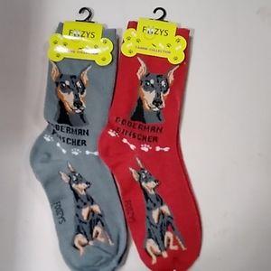 8/$30! Doberman Pinscher Foozys socks Mix & Match